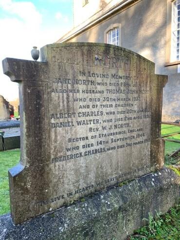 Photograph of North Family Headstone at Moira Parish Church, County Down