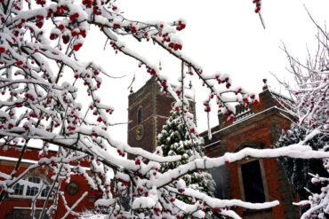 View of St Thomas' Church Stourbridge in winter