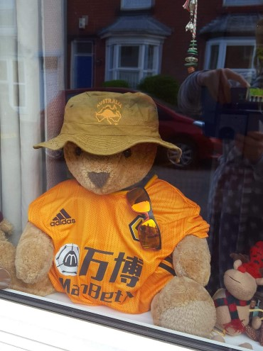Mr Ted of Brook Street on his first day in the window