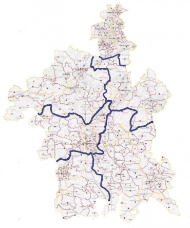 Map of Diocese of Worcester Deaneries