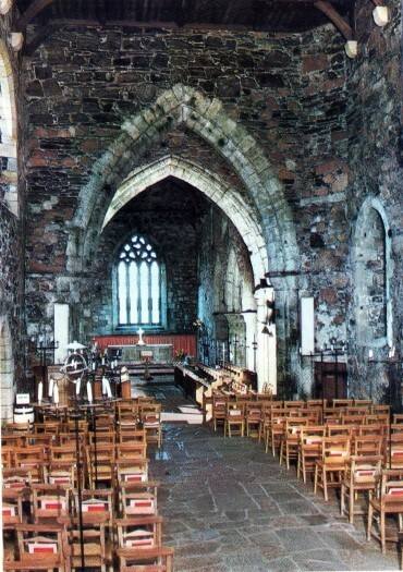 A photo of the inside of the Abbey on the Scottish island of Iona
