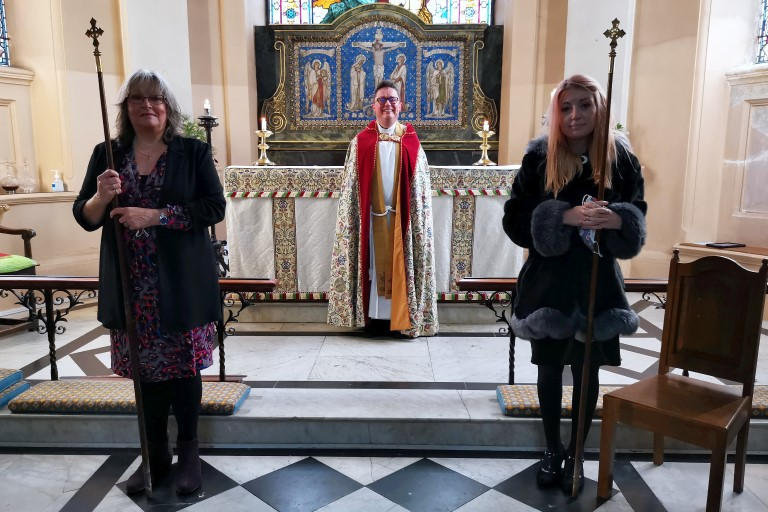 The induction of churchwardens in 2020.